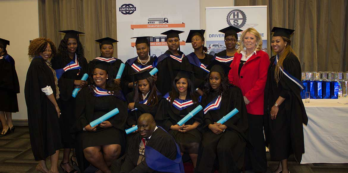 unitrans graduation national certificate professional driving driver learnership